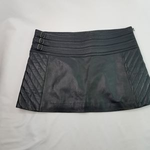 Guess Collection black leather mini skirt 6